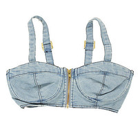 Girls Crop Denim Bustier