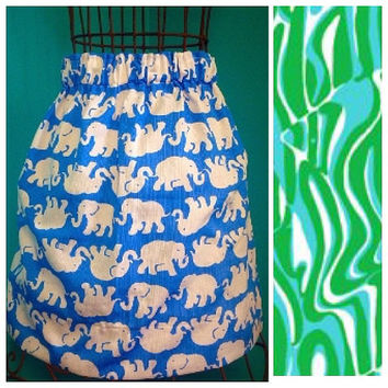 Custom Lilly Pulitzer Finders Keepers Skirt