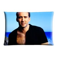 "Nicolas Cage- Case cover pillow 30"" X 20"" Two Side"