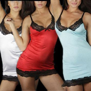 Sexy Women Lady Lingerie Sleepwear Lace Dress Underwear Nightwear G-string LH