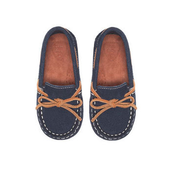 Casual leather moccasin - Shoes - Baby boy - Kids | ZARA United States
