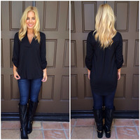 Fall In Place Blouse - BLACK