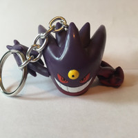 Pokemon Keychain - Gengarite - repurposed toys