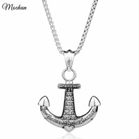 MQCHUN 2017 Shields of Strength Women Men Alloy Small Anchor Pendant Necklace Hip Pop Punk Style Vintage Jewelry Hebrews 6:19
