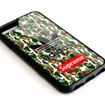 Limited Edition Bape Supreme Adidas Print On For iPhone 7 7+ 8 8+ Cover Case