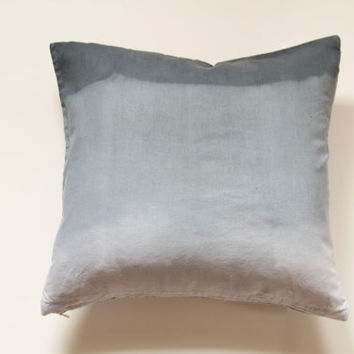 """CLEARANCE: Grey Ombre Pillow Cover- 16""""x16"""" Gray Decorative Throw Pillow Cover, Stormy skies throw pillow"""