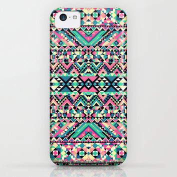 Pink Turquoise Girly Aztec Andes Tribal Pattern iPhone & iPod Case by Railton Road | Society6
