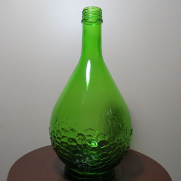 1960's Half Gallon Gallo Flavor-Guard Green Glass Wine Bottle