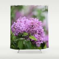 Lilac Bouquets Shower Curtain by Theresa Campbell D'August Art