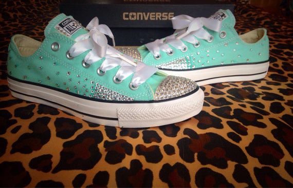 Full Ombre Rhinestone Converse With From Conversecustomized On
