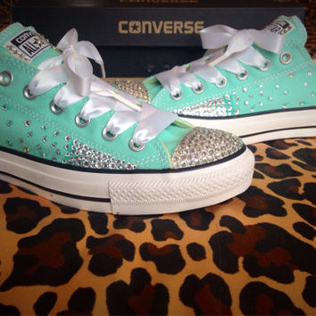 69aaf835e601 Full Ombre Rhinestone Converse with from ConverseCustomized on