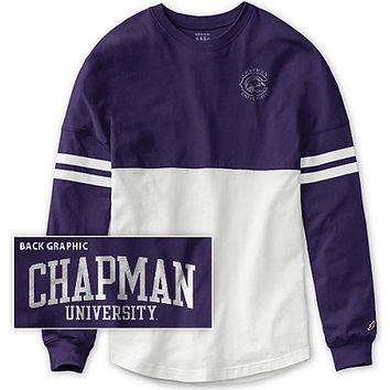 Chapman University Women's Color Block RaRa Long Sleeve T-Shirt | Chapman University