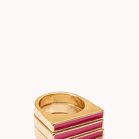 Sleek Flat Top Ring Set