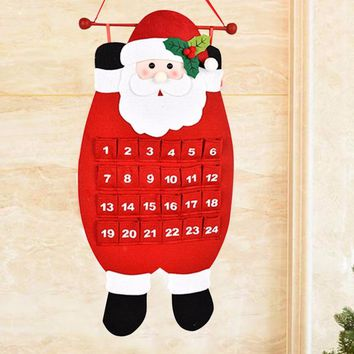 Christmas Advent Calendar Countdown Christmas Tree Decorations Hanging Ornaments For Home Office Party Gift Festival Supplies