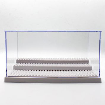 Black Acrylic Display Case Scale Figures Protection Showcase Clear Display Box Case Building The Action Figures Doll Toys House