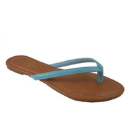 Forever Faithful Classic Strap Aqua Blue Flip Flops, Sandals