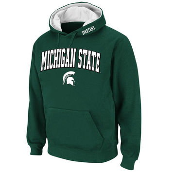 Men's Stadium Athletic Green Michigan State Spartans Arch & Logo Pullover Hoodie