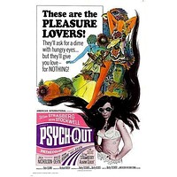 1968 MOVIE POSTER PSYCH-OUT give you love for nothing CULT CLASSIC 24X36 hot