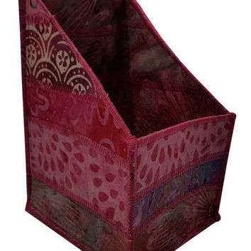 Pencil and Tool Organizer in Pink Batik