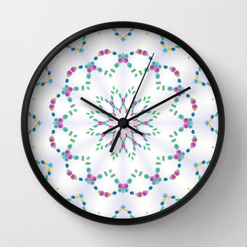 Pretty Little Garden Wall Clock by Lena Photo Art