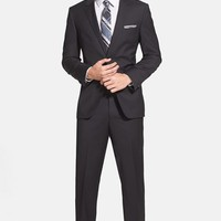 BOSS 'James/Sharp' Trim Fit Black Super 120s Wool Suit