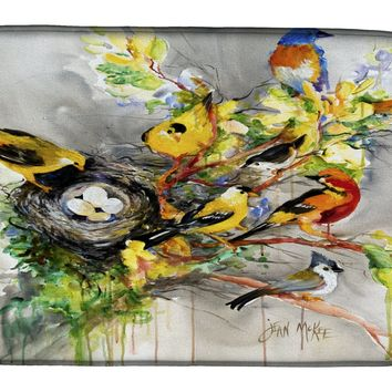 Spring Birds Dish Drying Mat JMK1024DDM