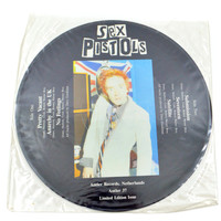 Vintage 80s Sex Pistols Limited Edition Picture Disc Record Vinyl
