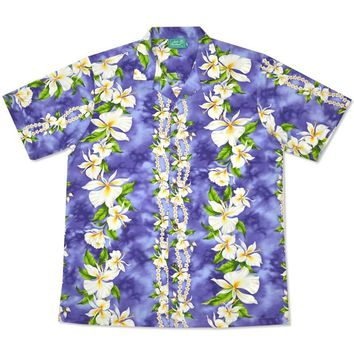 orchid hawaiian cotton shirt