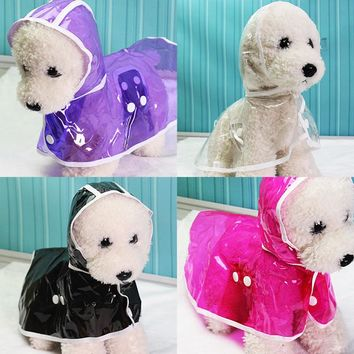 Dog Clothes Raincoat Pet Coats Waterproof Jacket for Small Large Dog Cat Puppy Product Rain Coats Size XS-XL 39S1Q