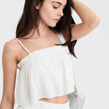 AE Mirrored Tube Top, White