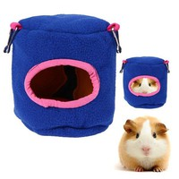DCCKWQA Guinea Pig Hamster Cage Bed Small Animal House Bird Nest Chinchillas Squirrel Bed Guinea Pigs Cute Pet Hamster Products Hot Blue