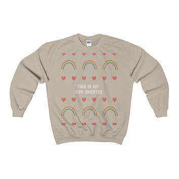 this is my gay sweater lgbt funny ugly sweatshirt