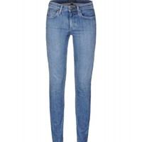 Theory Faded Skinny Jeans - Denim Pants - ShopBAZAAR