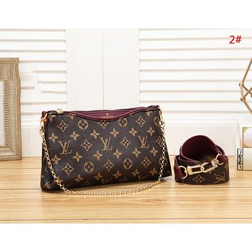 LV Louis Vuitton Fashion New Monogram Print Shopping Leisure Shoulder Bag Women 2#