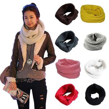VONESC6 Fashion Girls Winter Warm Knitting Wool Collar Neck Warmer Scarf Shawl Wraps