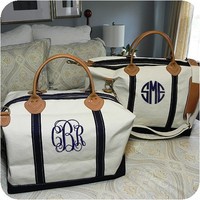 Preppy Monogrammed Weekender Bag by adstorey on Etsy