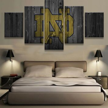 Notre Dame Barn Wood Style Canvas
