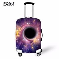FORUDESIGNS Stylish Galaxy Star Printed Luggage Covers for 18-30 Inch Suitcase Thick Elastic Travel Luggage Protective Cover