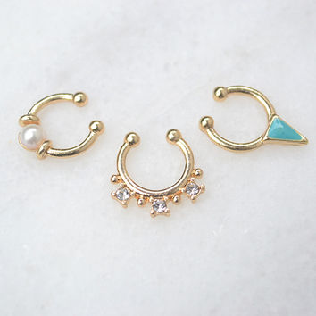 Septum Nose Rings in Gold