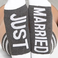 Women's Arthur George by R. Kardashian 'Just Married' Crew Socks