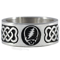 Grateful Dead - Steal Your Face Sterling Silver Ring