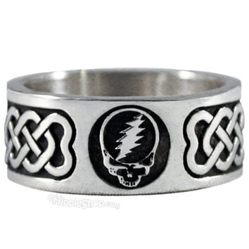 Grateful Dead - Steal Your Face Sterling Silver Ring on Sale for $49.99 at HippieShop.com