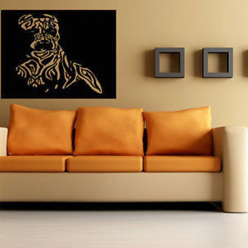 Pitbull Dog Puppy Breed Pet Animal Family Wall Sticker Decal Mural 2933
