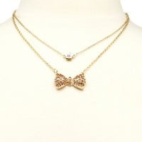 Bow & Blossom Necklace Set: Charlotte Russe