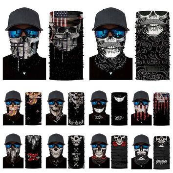 Cycling Head Scarf Neck Warmer Skull Face Mask Ski Balaclava Headband Mask Scary Halloween Face Shield Outdoor