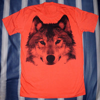 Wolf T-Shirt Fox T-Shirt -- Wolf Shirt Animal T-Shirt Animal Tee Shirt Women T-Shirt Men T-Shirt Unisex T-Shirt Animal Shirt Size M