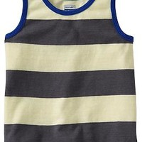 Rugby-Stripe Heathered Tanks for Baby