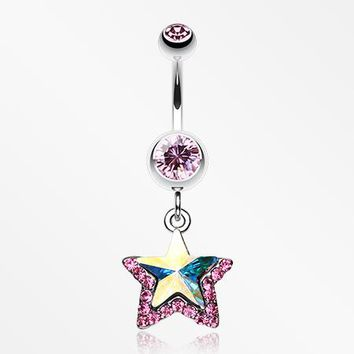 Crystal Star Prism Belly Ring