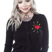 MISS LADYBUG ARROW HEART CARDIGAN