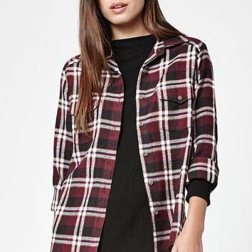 RVCA Jig 5 Plaid Flannel Button-Down Shirt at PacSun.com